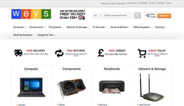 weys-ecommerce-homepage